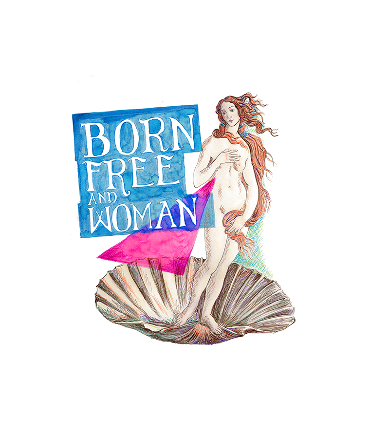 Diseño Born free and woman